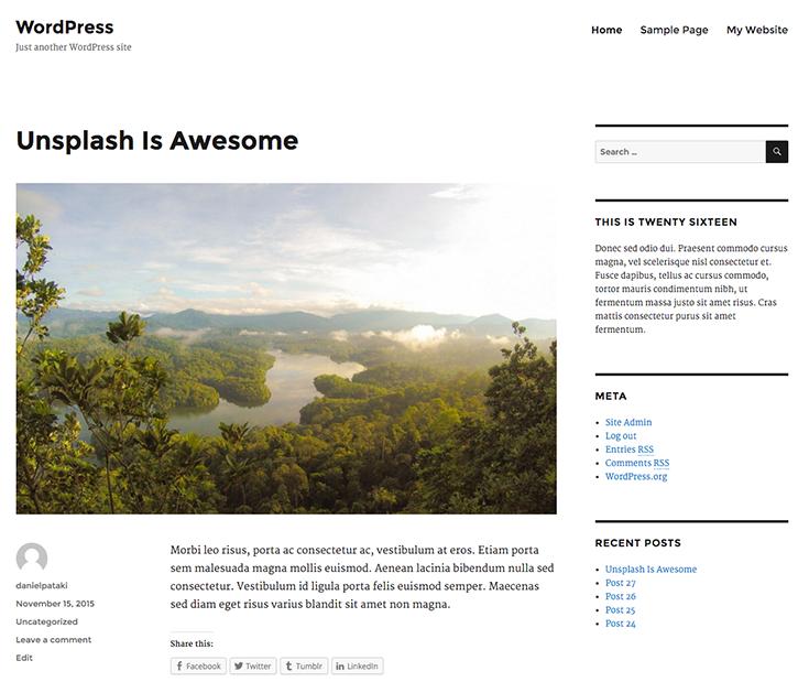 Twenty Sixteen - the new default WordPress theme