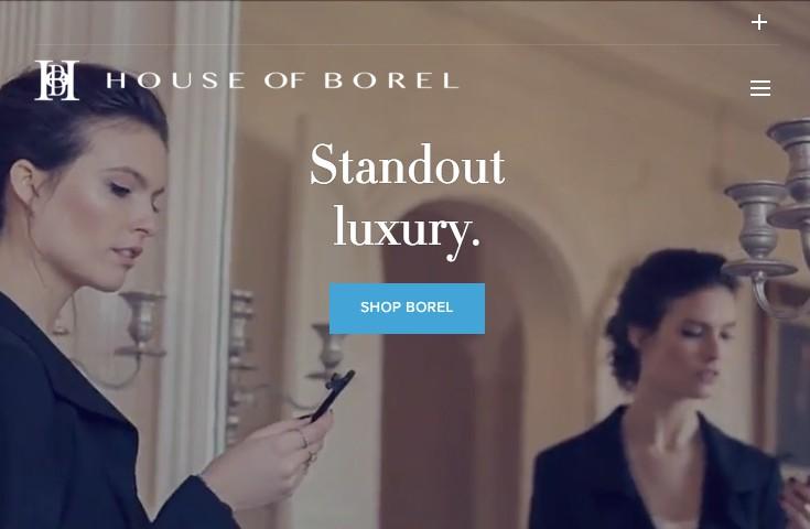 Video background example: HouseofBorel.com