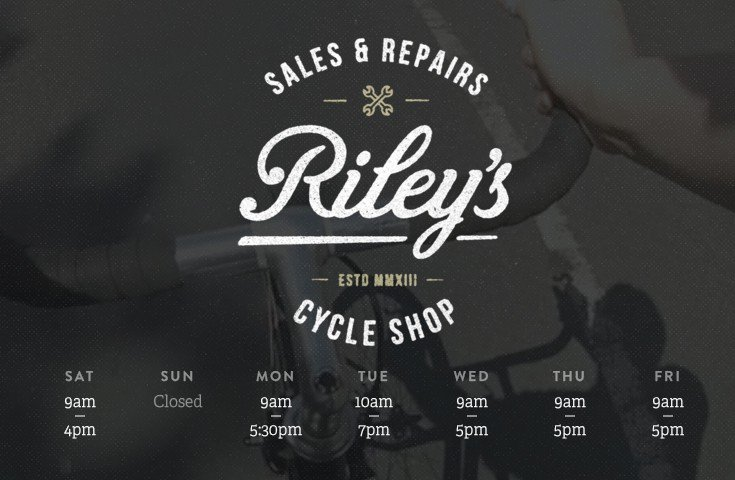 Video background example: RileysCycles.co.uk