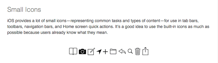 Use graphics and icons that are familiar to your users.
