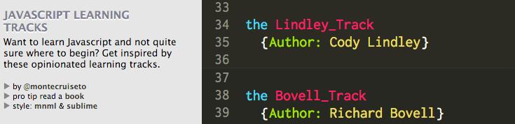 JavaScript Learning Tracks