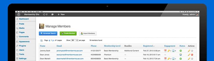 MemberMouse membership plugin