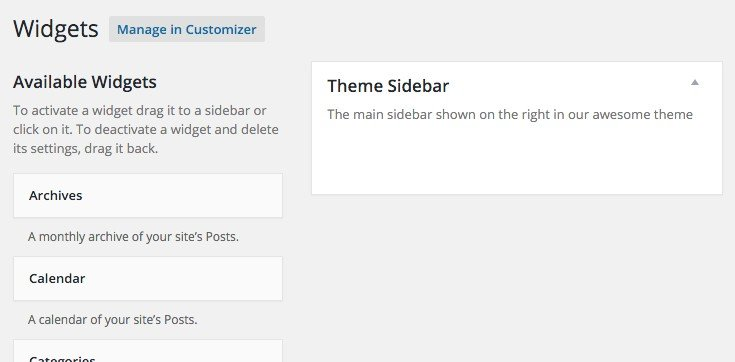 Widget Area in WordPress