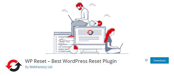 WP Reset Plugin Download Page Screenshot