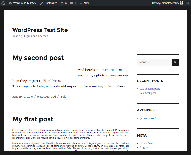 My Blogger blog now on WordPress.