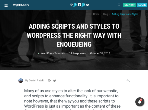 Enqueuing scripts in WordPress - WPMU DEV guide
