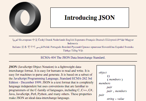 The JSON website