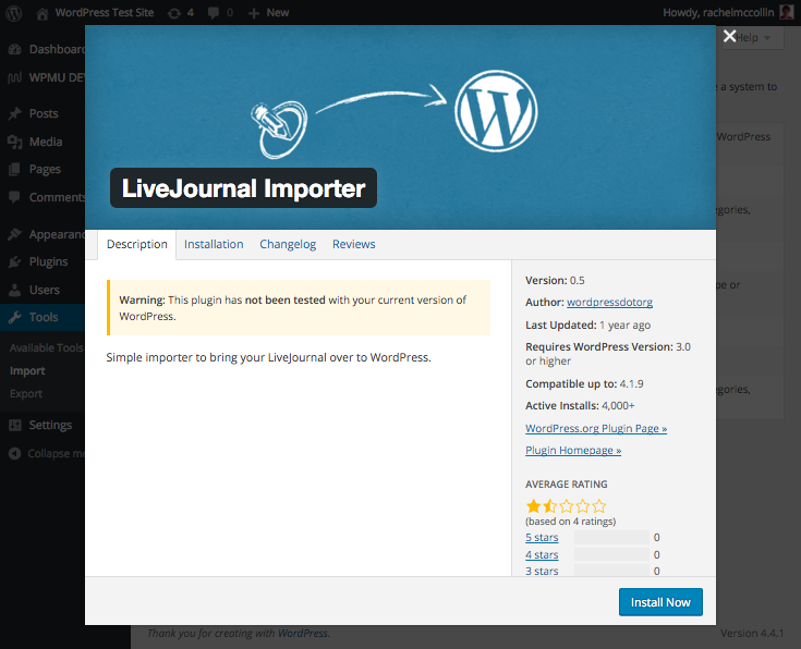 The LiveJournal importer plugin.