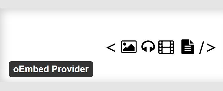 oEmbed Provider plugin