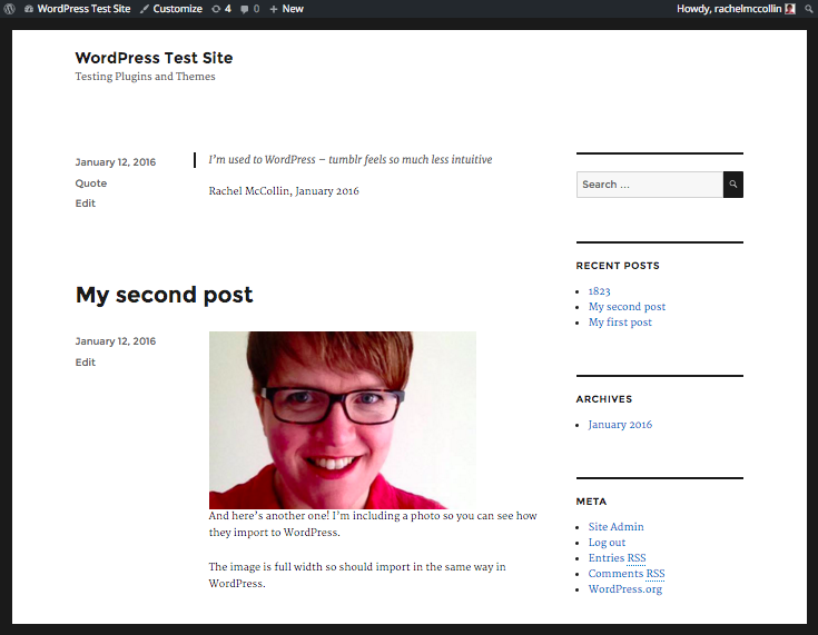 My WordPress site imported from Tumblr.