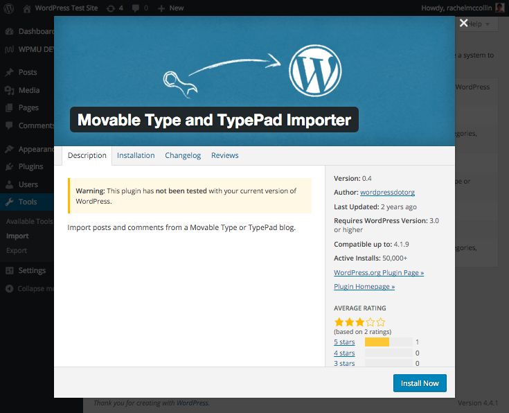 Movable Type and TypePad use the same importer.