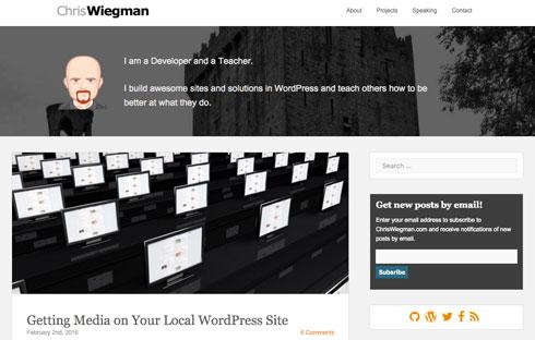 Chris Wiegman is a successful WordPress developer and teacher.