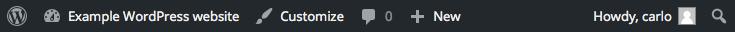 default toolbar