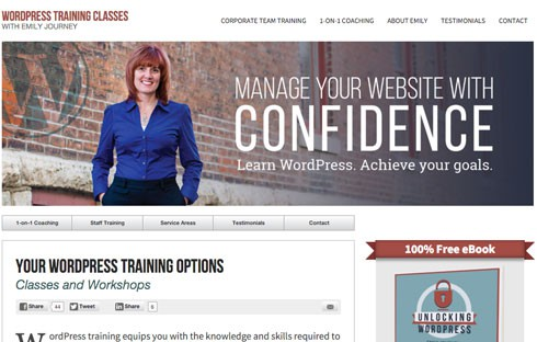 Emily Journey is a successful WordPress trainer.