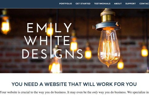 Emily White owns the aptly named agency Emily White Designs.