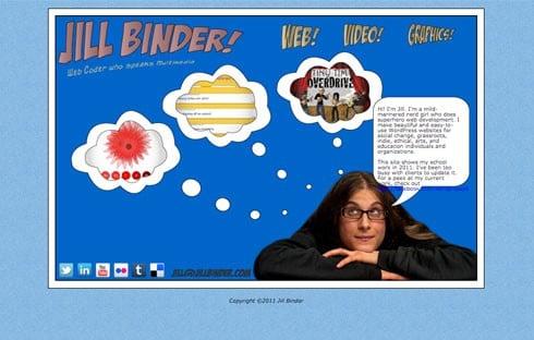Jill Binder is a super hero web developer.