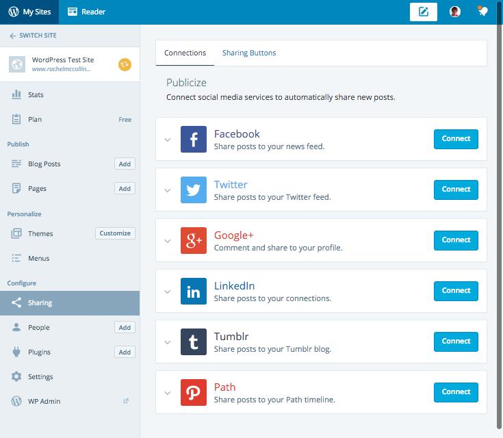 Calypso - configuring sharing