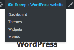 Site name menu