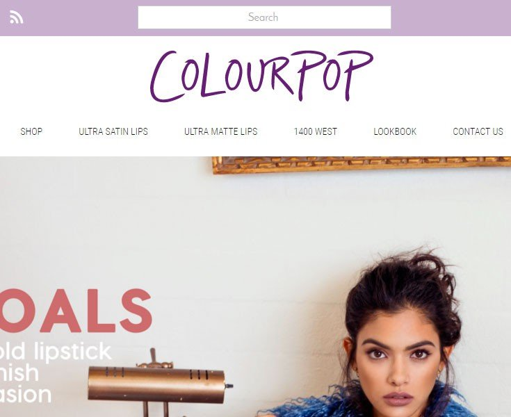 Colour Pop is targeted to women and uses purple to zero in on its audience.