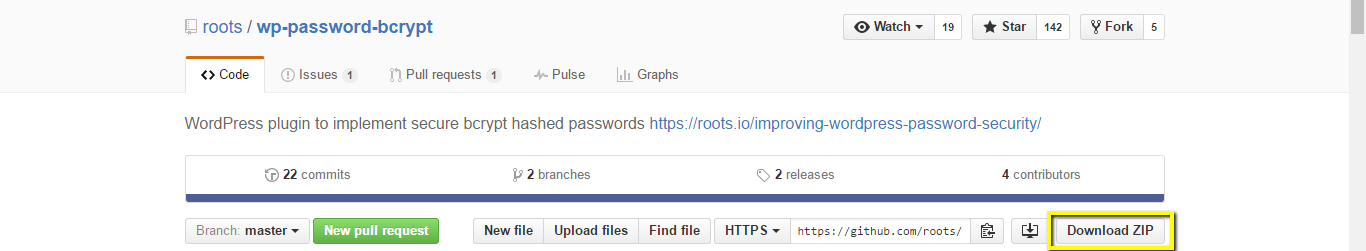 press the download zip button to download the plugin file from the plugin's github page