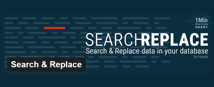 Search and Replace plugin