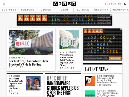 Wired website