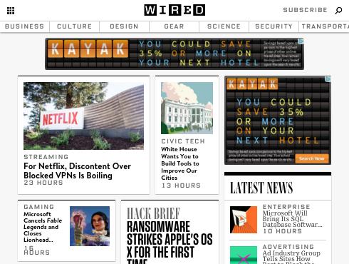 Wired website