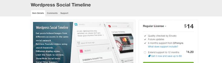 wordpress-social-timeline