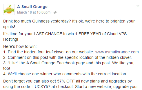 A Small Orange had customers search for a hidden image to win a prize.