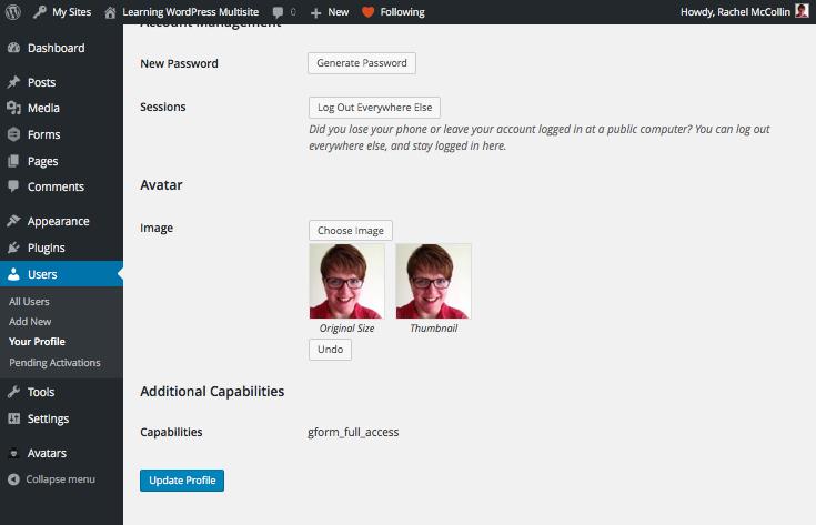 Uploading an avatar - upload field