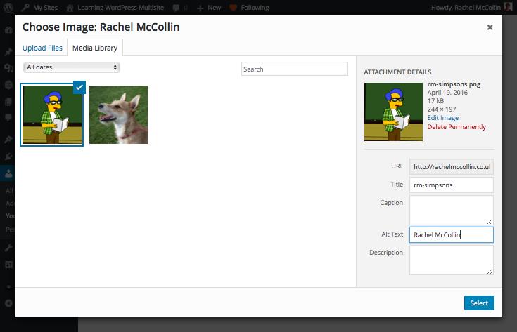 Uploading an avatar via the media uploader