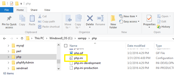 The php.ini file controls your site's PHP settings.