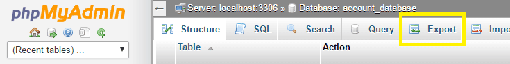 Export your site using phpMyAdmin.