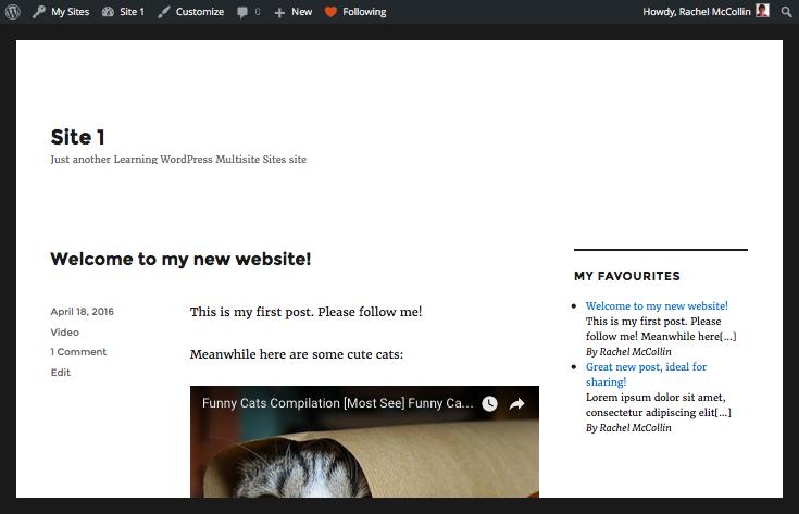 Reader widget on a site