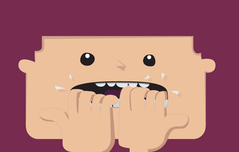 An illustration of a scared WordPress user.