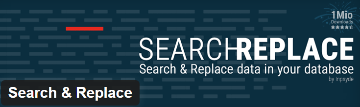 Image of search and replace plugin from wordpress.org