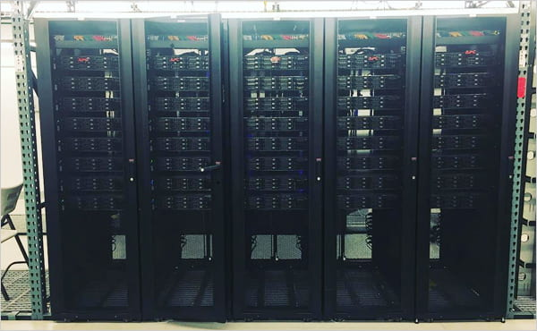 image of web hosting data center.
