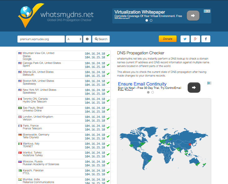 A domain checker will help you see your DNS changes working
