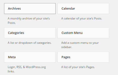 A look at the default WordPress widgets.