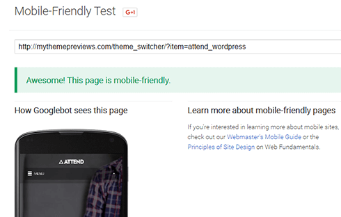 Your choice theme must be responsive and mobile-friendly.