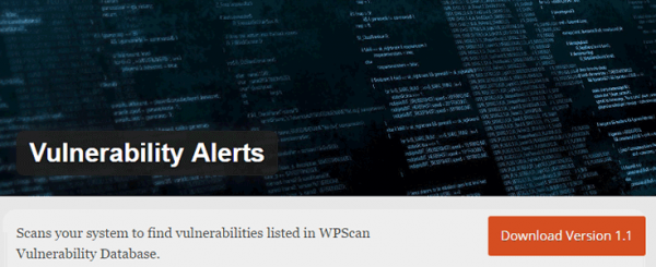 Vulnerability Alerts plugin