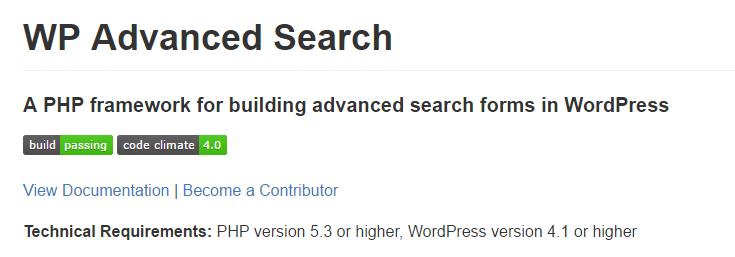 screenshot of advanced search page on Github