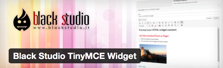 Black Studio TinyMCE Widget - Rich Text and Media plugin for WordPress sidebars.