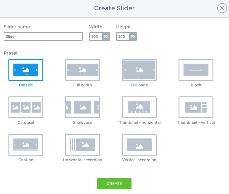 Create a slider