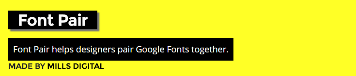 font pair website screenshot