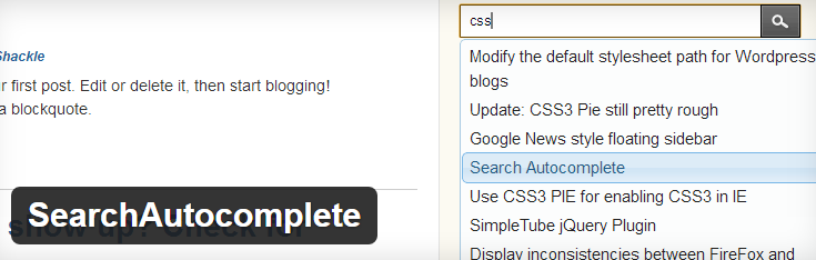 SearchAutocomplete plugin image from wordPress.org