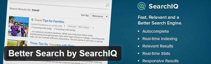 Better Search by SearchIQ image from wordpress.org