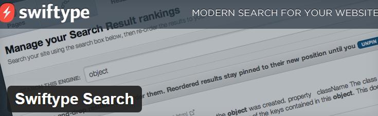 Swiftype Search Plugin image from WordPress.org