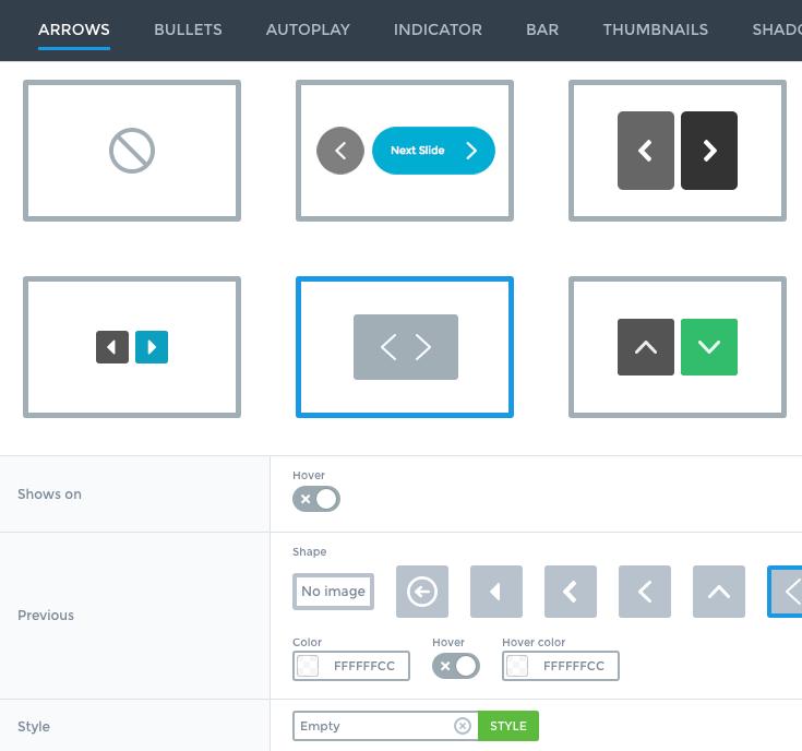 Smart Slider Visual Settings