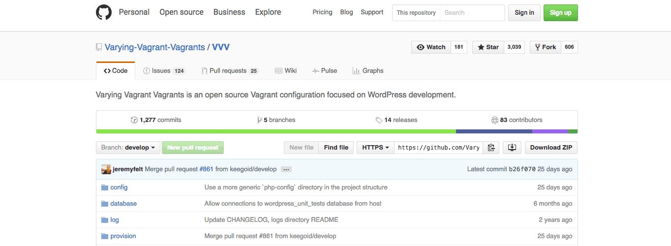 Varying Vagrant Vagrants is an open source Vagrant configuration focused on WordPress development.